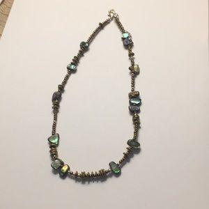 Soplada Abalone & bead necklace